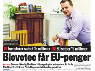 Biovotec One Of Few EU Companies Receiving EU Grant
