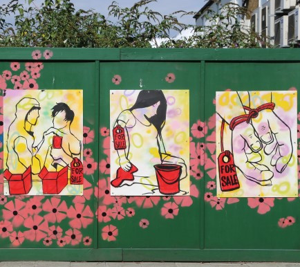 Community art project shows joint stance on modern slavery