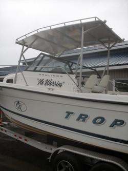 Rack sur bateau de plaisance vue 2
