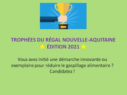 Appel à candidatures pour les Trophées du RÉGAL NA 2021
