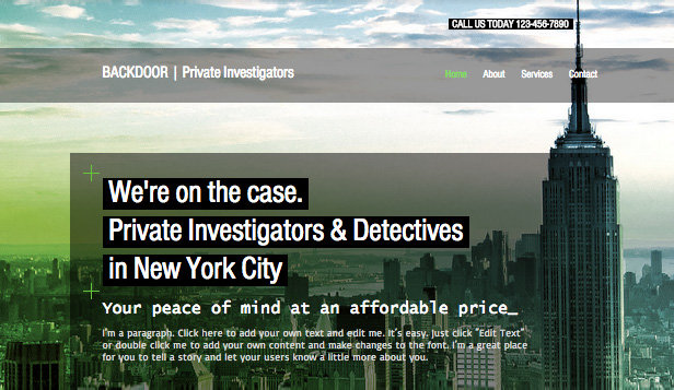 Consulting & Coaching website templates – Private Investigators