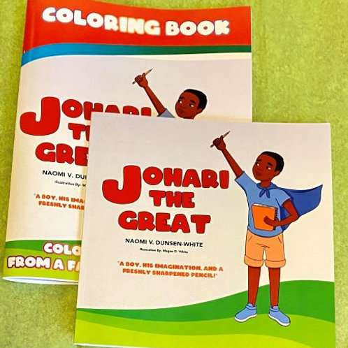 Johari The Great - BUNDLE: Book (softcover) and Coloring Book