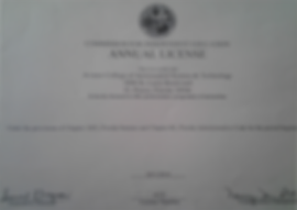 Certificate Commission for independent education annual license