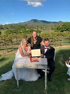 Amy Brett.jpg. Tamborine marriage celebrant married couple at Mount Tamborine