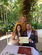 Laura Matt.jpg. Happy couple become husband and wife in Tamborine.
