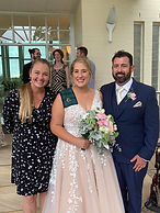 brit Ben.jpg. Beautiful wedding at Sanctuary Cove Gold Coast. Happily married couple and their marriage celebrant.