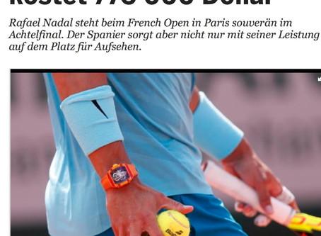 Der People-Presse fallen die Uhren von Nadal und Federer auf