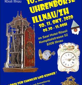Die Uhrenbörse Illnau FINDET STATT am 11.10.2020