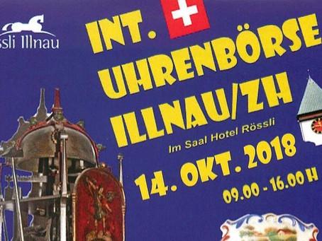 """Die Uhrenbörse Illnau """"für Sammler und Kenner"""" am 14.10.2018"""