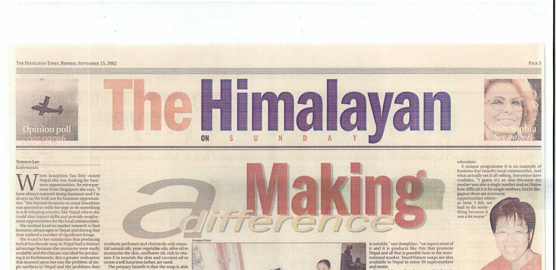 The Himalayan Times, Sunday, September 15, 2002