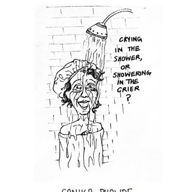 Showering in the Crier