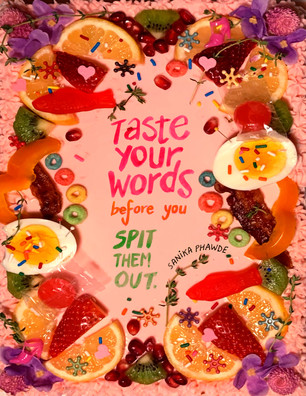Taste Your Words Before You Spit Them Out