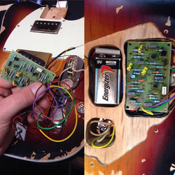 Andy Summer telecaster modification.