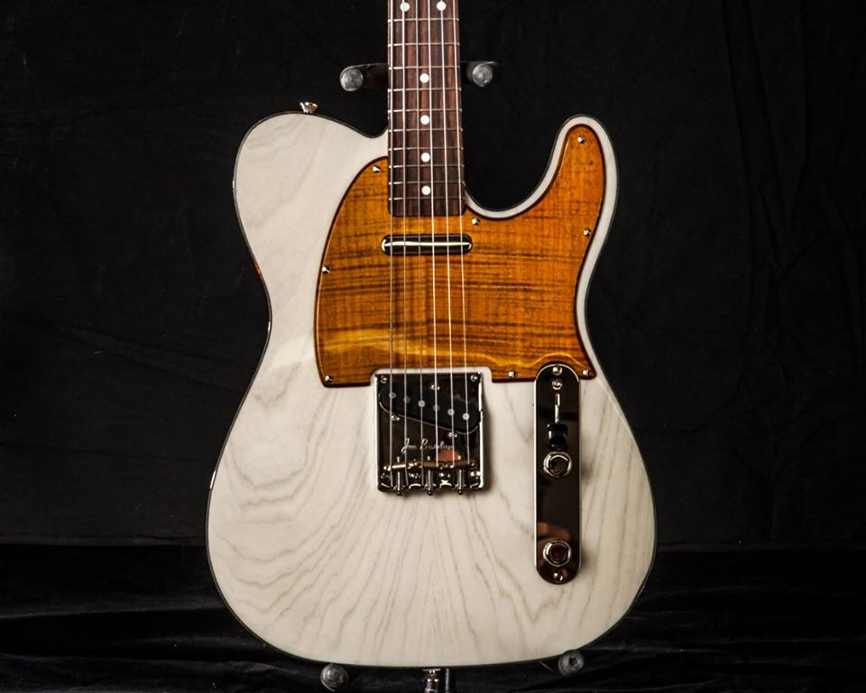 Milk White Tele w/ Flamed Maple PG