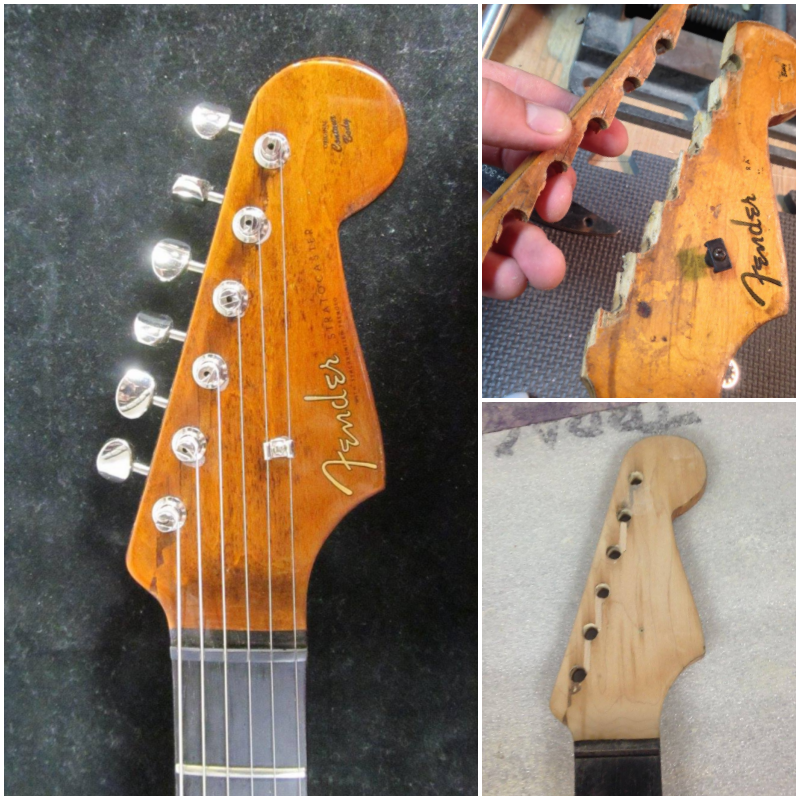 '62 Strat Headstock Construction