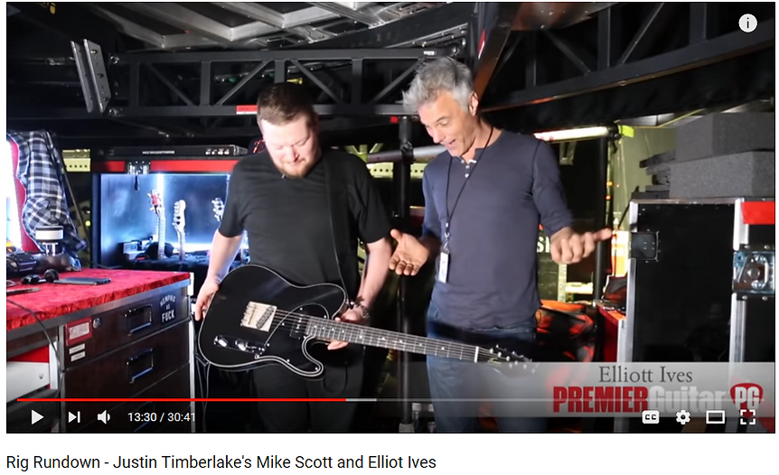 YouTube Screenshot, Premiere Guitar Rig Rundown with Joh Bohlinger and Ellitt Ives from the Justin Timberlake Band