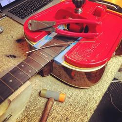 Martin acoustic re-fret.