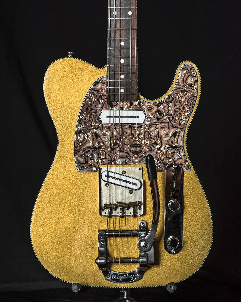 Metallic Gold Tele