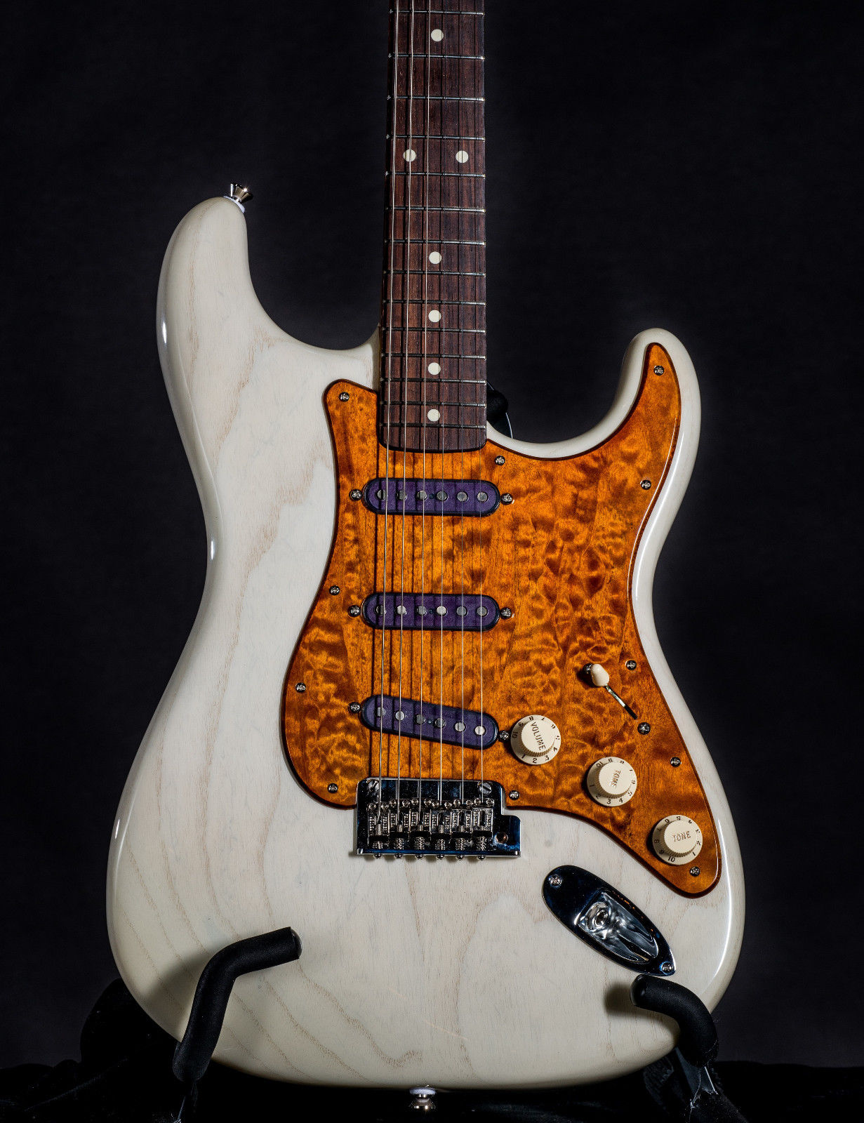 Milk White Ash Strat w/ Quilted PG