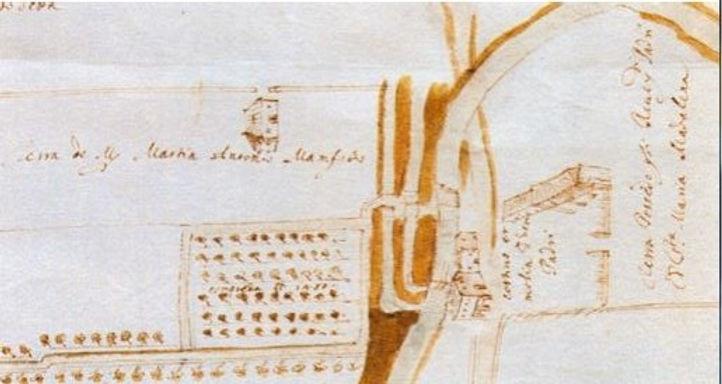 mappa del vechio Mulino civino alla chie
