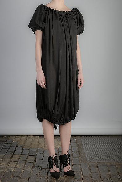 Tie Dress in black