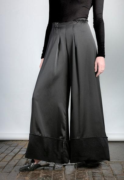 Wide Leg Satin Trousers