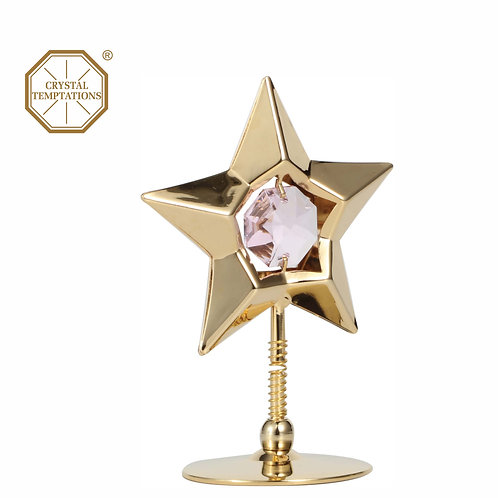 24K gold plated Star table decoration with color Swarovski crystal