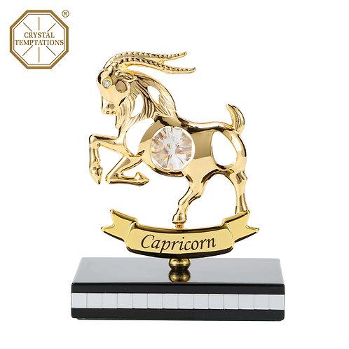 Gold plated Zodiac-Capricorn iron table decoration