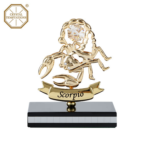 Gold plated Zodiac-Scorpio iron table decoration