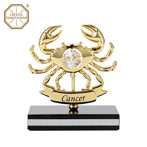 Gold plated Zodiac-Cancer iron table decoration