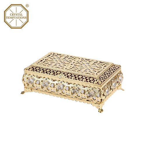 24K Gold Plated Jewellery Box with Swarovski Crystal