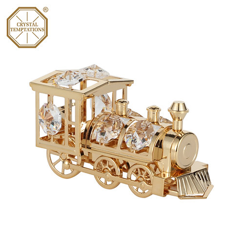 Gold plated Railway train iron table decoration