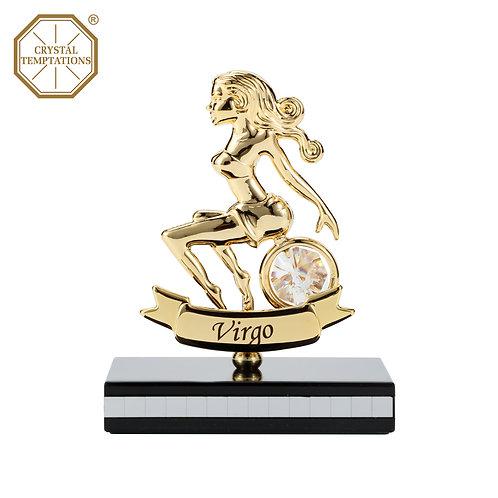 Gold plated Zodiac-Virgo iron table decoration