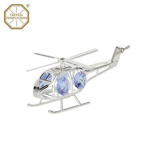 Deluxe silver plated Helicopter iron table decoration