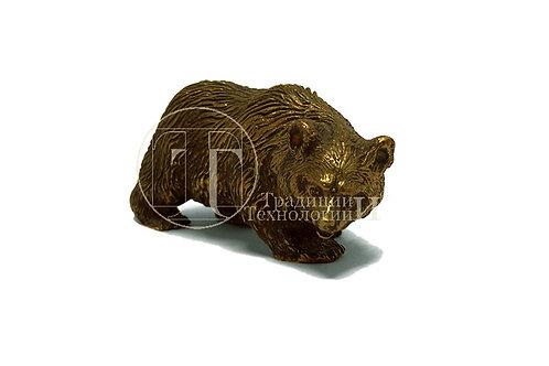 "Статуэтка ""Медведь"" из латуни"