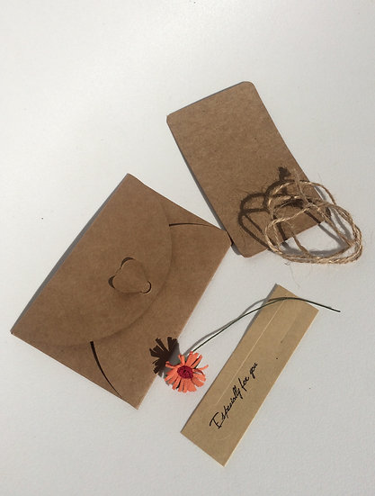 Enveloppe & Invitation fleur petite marguerite orange