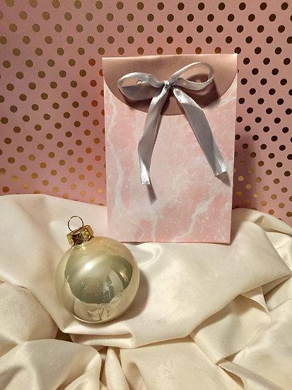 Boule de 5,7cm à personnaliser & son sac cadeau