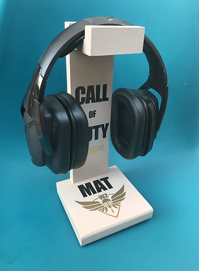 """Porte casque """"Call of Duty Warzone""""  Personnalisable Couleur Logo et nom"""