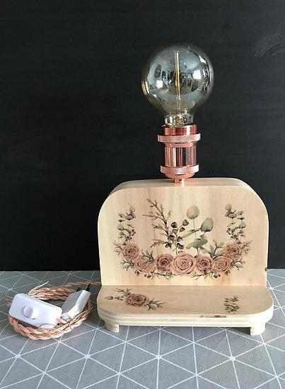"""Petite Lampe """"Florale"""" à personnaliser avec un prénom ou un petit texte"""