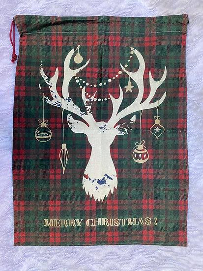 Le grand sac à cadeaux Tête de renne