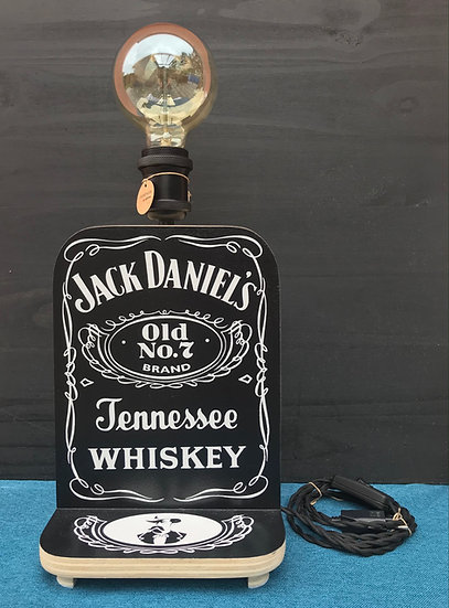 "Lampe thème ""Jack Daniels"""