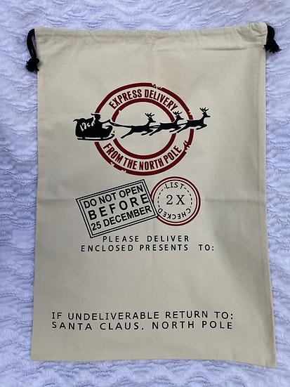 Le grand sac à cadeaux Traîneau à personnaliser