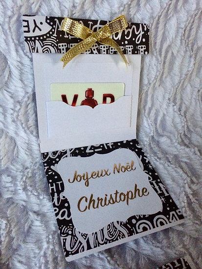 Porte carte cadeau à personnaliser