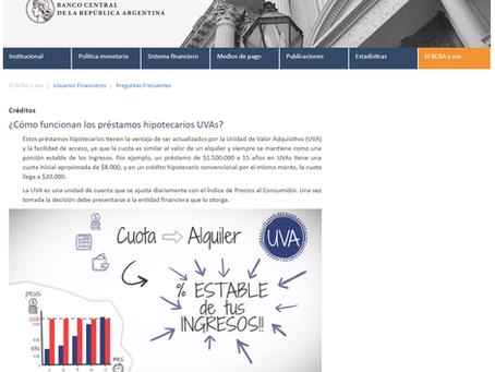 COMUNICADO DEL COLECTIVO #HipotecadosUVA sobre la #PublicidadEngañosaUVA del BCRA