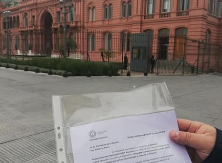 NACIONAL: PEDIDO DE AUDIENCIA A MACRI