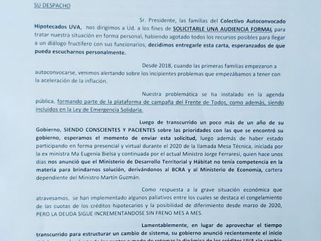 PEDIDO DE AUDIENCIA AL PRESIDENTE ALBERTO FERNÁNDEZ