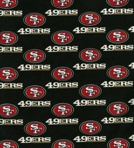 Set of 8 - San Francisco 49ers Gold & Black