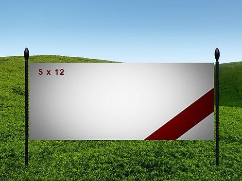 5' x 12' 13oz Banner