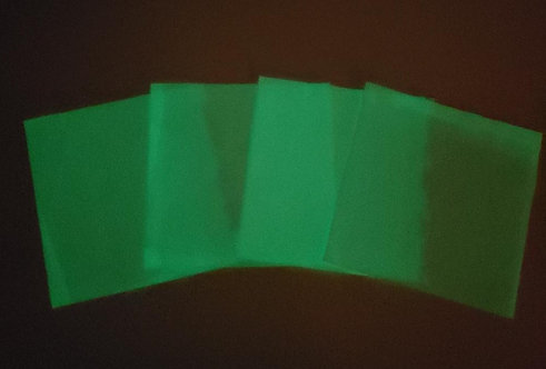 Set of 4 - Glow in the Dark-Lime Green LIMITED QUANTITY- ~Only 1 set left~