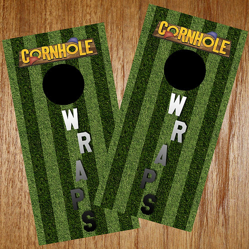Custom Cornhole Wrap Set w/ Felt edge squeegee